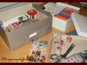 Loving my newly organised craft boxes!