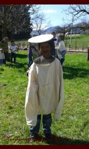This was the protective suit they all wore to go into the hive to look for the queen bee.