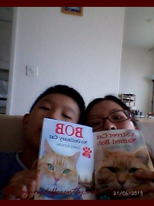 Playing with our Bob books like the good cats we are ;)