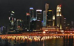 Singapore's Skyline of the same area today. Credit: Wikipedia, Tourism in Singapore