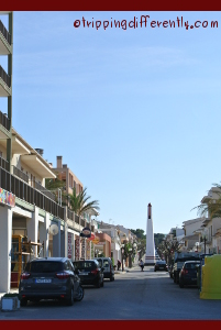 This was the main street at C'an Picafort...