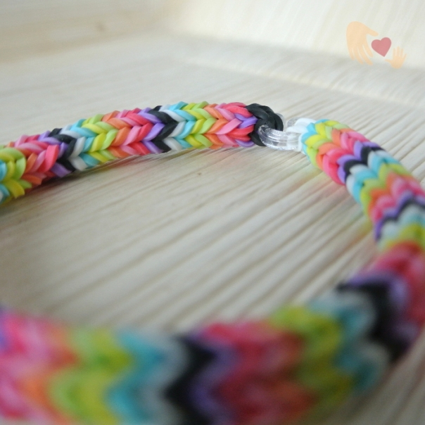 And of course here's the Rainbow Quadfish Loom Bracelet... just love those colours!