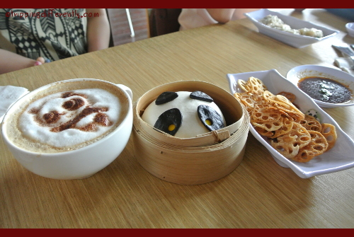 Panda themed food at the River Safari...