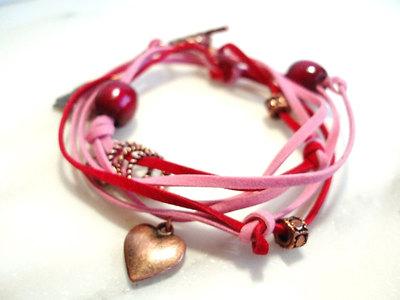 redpinkheartbracelet