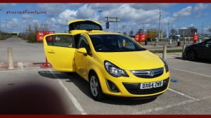 i thought it was such a cute car, all bright and yellow! Reminds me of the song Yellow Submarine.