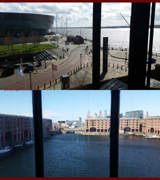 Top: View from Holiday Inn Express Breakfast room. Bottom: View from our hotel room.