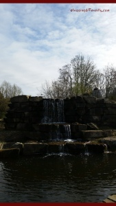 A nice waterfall near the center of the gardens.