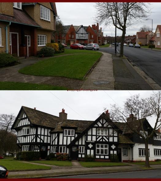 Love those timber framed houses!