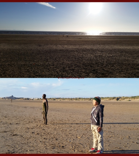 Top: See how flat it is! Bottom: Tobias standing with the iron man ;)