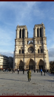 The Notre Dame! It is huge and i would recommend getting the audio guide. We didn't do that because we were limited by time.