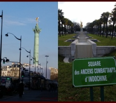 There are lots of monuments around the whole city.