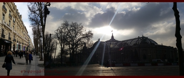 Left: Walking down Champs-Élysées. Right: The Grand Palace.